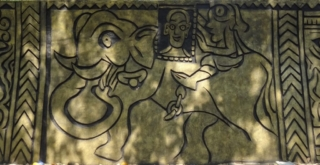 Narayana Menon's photo carried by an elephant, he was the founder of the GVHSS School